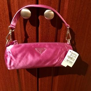 Prada Purple Satin Evening Bag Clutch